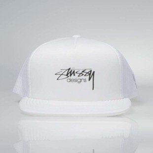 Czapka Stussy  snapback Smooth Stock Trucker Cap white