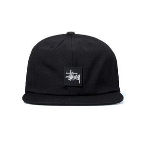 Czapka Stussy strapback cap Stock Rubber Patch black