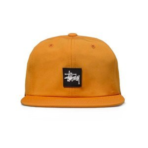 Czapka Stussy strapback cap Stock Rubber Patch orange