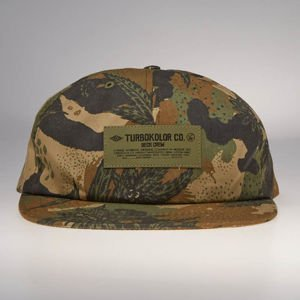 Czapka Turbokolor strapback Six Panel Weedland camo