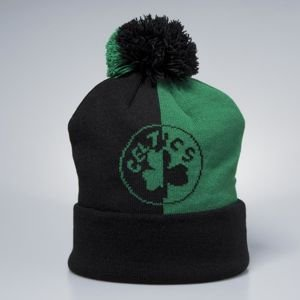 Czapka zimowa Mitchell & Ness Boston Celtics black / green Split Logo Knit