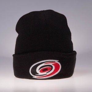 Czapka zimowa Mitchell & Ness Carolina Hurricanes black Team Logo Cuff Knit