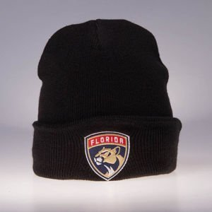 Czapka zimowa Mitchell & Ness Florida Panthers black Team Logo Cuff Knit