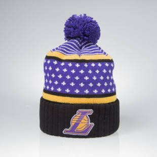 Czapka zimowa Mitchell & Ness winter beanie Los Angeles Lakers black / purple KW02Z The Highlands