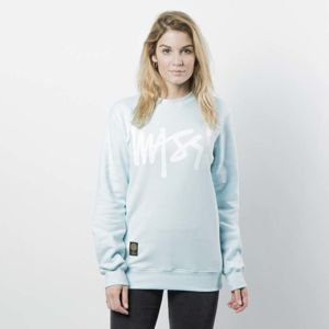 Damska bluza Mass Denim Sweatshirt Crewneck Signature WMNS light blue