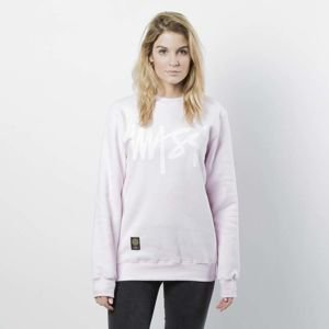 Damska bluza Mass Denim Sweatshirt Crewneck Signature WMNS light pink