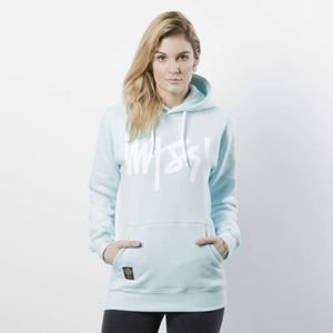 Damska bluza Mass Denim Sweatshirt Hoody Signature WMNS light blue