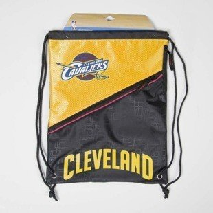 Forever Collectibles worek drawstring bag Cleveland Cavaliers Diagonal Zip black / yellow