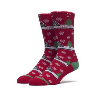 HUF skarpety Snow Droppings Crew Sock red
