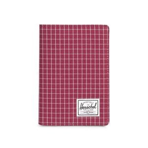 Herschel folder Raynor + Passport Holder wine grid 10373-01640