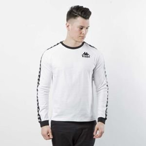 Kappa koszulka longsleeve Authentic Dixon white / black