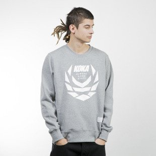 Koka bluza Crewneck Fusion Laurel heather grey