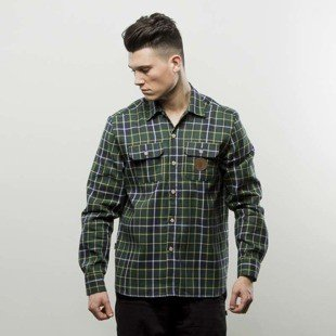 Koszula Turbokolor Shirt Flannel Earth Scottish Tartan green