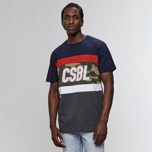 Koszulka Cayler & Sons Black Label Blocked Tee navy / heather grey