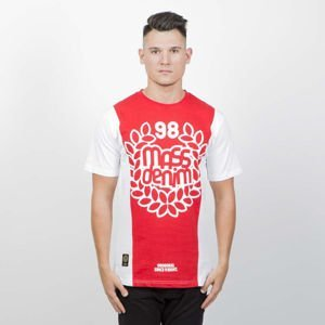 Koszulka Mass Denim False Start T-shirt white / red