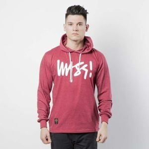 Koszulka Mass Denim Longsleeve Hoody Signature heather claret