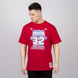 Koszulka Mitchell & Ness All Star West #32 Magic Johnson T-shirt red NBA Name & Number Tee