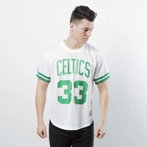 Koszulka Mitchell & Ness Boston Celtics - Larry Bird white / green Name & Number Mesh Crewneck