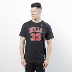 Koszulka Mitchell & Ness Chicago Bulls #33 Scottie Pippen T-shirt black Name & Number Traditional