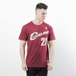 Koszulka Mitchell & Ness Cleveland Cavaliers #23 Lebron James T-shirt burgundy Name & Number Traditional