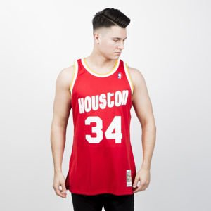 Koszulka Mitchell & Ness Houston Rockets #34 Hakeem Olajuwon red/white Swingman Jersey