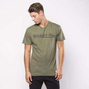 Koszulka Mitchell & Ness Own Brand T-shirt olive / black M&N Script Logo Traditional