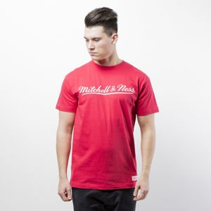 Koszulka Mitchell & Ness Own Brand T-shirt red / white M&N Script Logo Traditional