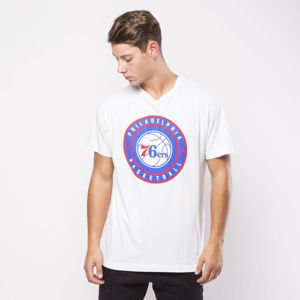Koszulka Mitchell & Ness Philadelphia 76ers T-shirt white Circle Patch