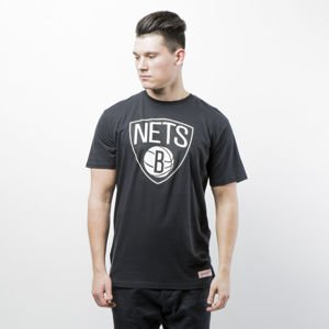 Koszulka Mitchell & Ness t-shirt Brooklyn Nets black Team Logo Tailored