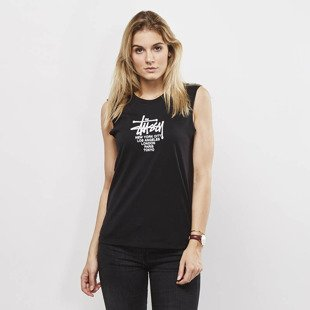 Koszulka Stussy tank top Big Cities Raw Edge Muscle black WMNS