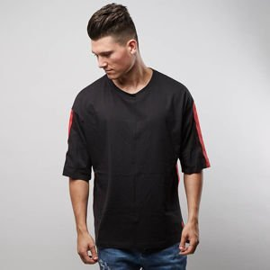 Koszulka Urban Flavours Stripe Oversized black / red