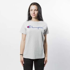 Koszulka damska Champion T-shirt Embroidered Logo WMNS light heather grey 109280/S17/3688