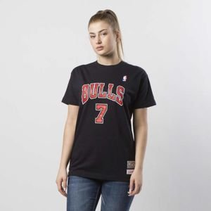Koszulka damska Mitchell & Ness #7 Chicago Bulls Toni Kukoc T-shirt WMNS black Name & Number Traditional