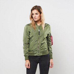 Kurtka Alpha Industries Bomber MA-1 TT IP Reversible sage green WMNS