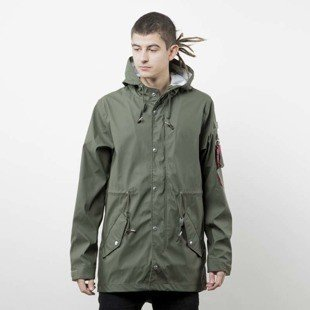 Kurtka Alpha Industries Fishtail Raincoat Parka dark olive