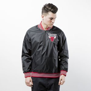 Kurtka Mitchell & Ness Chicago Bulls black 1/4 Zip Nylon Pullover