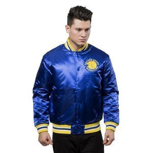 Kurtka Mitchell & Ness Golden State Warriors Jacket royal NBA Satin Jacket