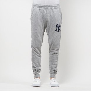 Majestic Athletic spodnie dresowe Platt Slim Loopback New York Yankees grey MNY2701E2