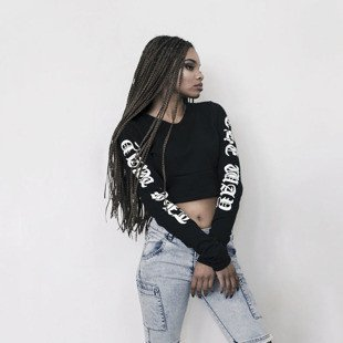 Majors bluza top The Truth Crop black