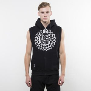 Mass Denim bluza Base Zip Sleeveless Hoody black
