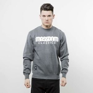 Mass Denim bluza Classics Crewneck dark heather grey