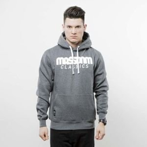 Mass Denim bluza Classics Hoody dark heather grey
