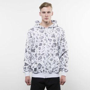 Mass Denim bluza Tattoo Zip Hoody white