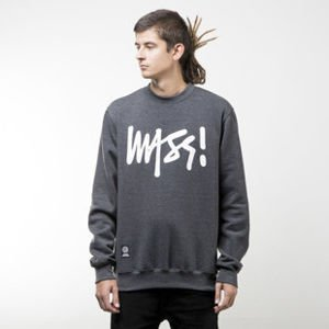Mass Denim bluza sweatshirt Signature crewneck dark heather grey