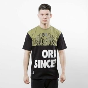 Mass Denim koszulka T-shirt Baller khaki / black SS 2017