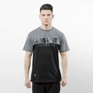 Mass Denim koszulka T-shirt Classics Cut black / dark heather grey SS 2017