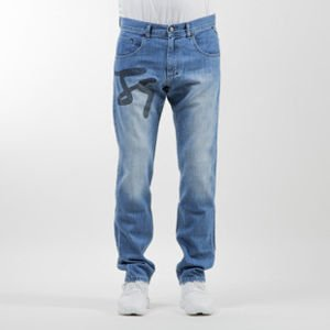 Mass Denim spodnie Jeans Signature Big straight fit blue
