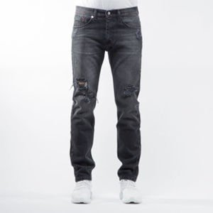 Mass Denim spodnie jeans Conversion tapered fit distressed black BLAKK