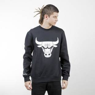 Mitchell & Ness bluza crewneck Chicago Bulls black Black and White Logo