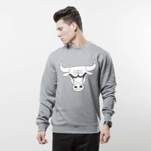 Mitchell & Ness bluza crewneck Chicago Bulls grey BLACK and WHITE LOGO